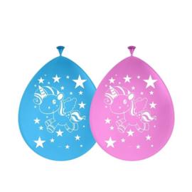 Eenhoorn Star Ballonnen - 8 stuks
