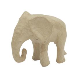 Olifant van papier-mache | 12 cm
