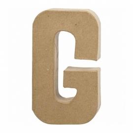 Papier-mache Letter G - 20 cm