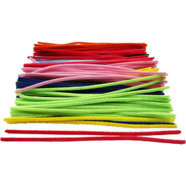 Chenilledraad in 10 kleuren - 6 mm - lengte 30 cm - 200 st