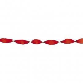 Feestelijke papieren slingers  | rood | 6 m
