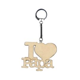 Sleutelhanger 'I LOVE PAPA'