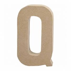 Papier-mache Letter Q - 20 cm
