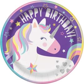 Eenhoorn Happy Birthday - 8 borden - 23 cm