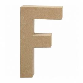 Papier-mache Letter F - 20 cm