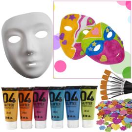 Knutselpakket Kinderfeestje - 6 Maskers Versieren