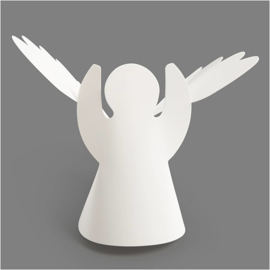 Wikkel Engel - wit karton - 10,5 cm hoog - 25 st