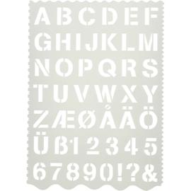 Alfabet Sjabloon - Kunststof - A4