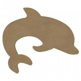 Grote MDF Dolfijn 30 cm