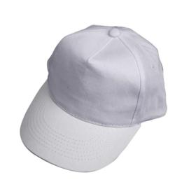 Cap van wit katoen - verstelbare maat 49,5 / 56 cm