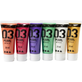 A-Color Acrylverf Metallic incl. Goud - 6 x 20 ml