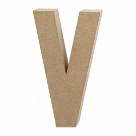 Papier-mache Letter V - 20 cm