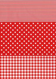 Decoupage papier Stippen rood | 30 x 40 cm | FDA484O