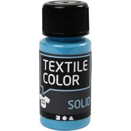 Textile Color Solid Turquoise blauw - dekkende textielverf  - 50 ml