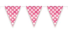 Dots vlaggenlijn roze | 3,6 meter