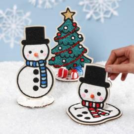 Knutselidee: Foam Clay Sneeuwpoppen Figuren
