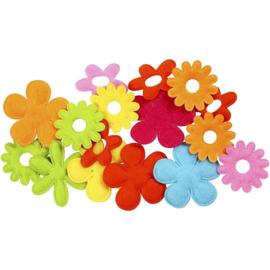 Bloemen van Vilt - 35-45 mm - 16 st