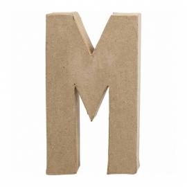 Papier-mache Letter M - 20 cm