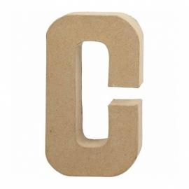 Papier-mache Letter C - 20 cm