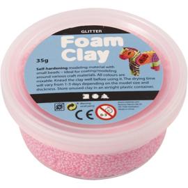 Foam Clay Glitter Lichtroze 35 gram