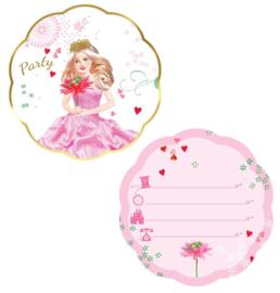 Uitnodigingen Prinsessenfeest - 6 st