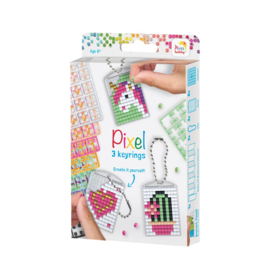Pixelhobby Sleutelhanger Set Cute - 3 Medaillons - 38 Patronen