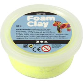 Foam Clay Glitter Neon Geel - Klei - 35 gr