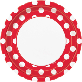 Borden Dots - Rood - 8 st