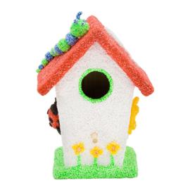 Knutselpakket Kinderfeestje - 6 x Foam Clay Vogelhuisjes