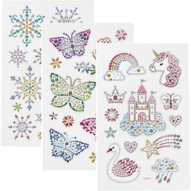 Diamond stickers - Diverse thema's - 15 x 16,5 cm - 1 vel