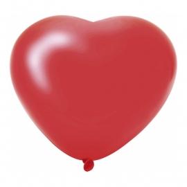 6 Hartjes Ballonnen Rood