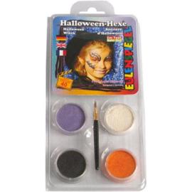 Schmink voor Heksen en andere Halloween figuren - 4 kleuren