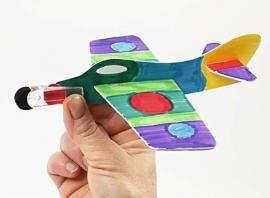 Vliegtuigjes kleuren