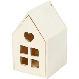 Houten Huisje met Lade - 10 cm