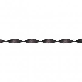 Feestelijke papieren slingers  | zwart | 6 m