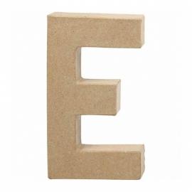Papier-mache Letter E - 20 cm