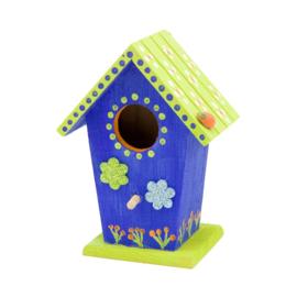 Knutselpakket Kinderfeestje - 6 x Vogelhuisjes versieren