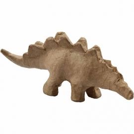 Stegosaurus van papier-mache 22 cm