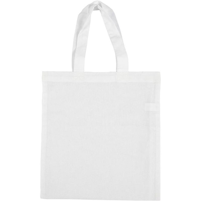 Tas van wit katoen - 130 g/m2 - 28 x 30 cm