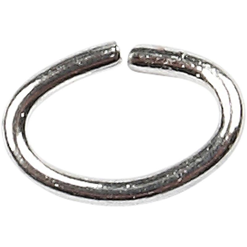 Ring - dikte 0,7 mm - Binnenmaat 4 mm - verzilverd - 50 st