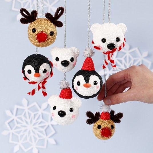 Knutselidee: Pooldier Kerstballen - Deel 1 IJsbeer