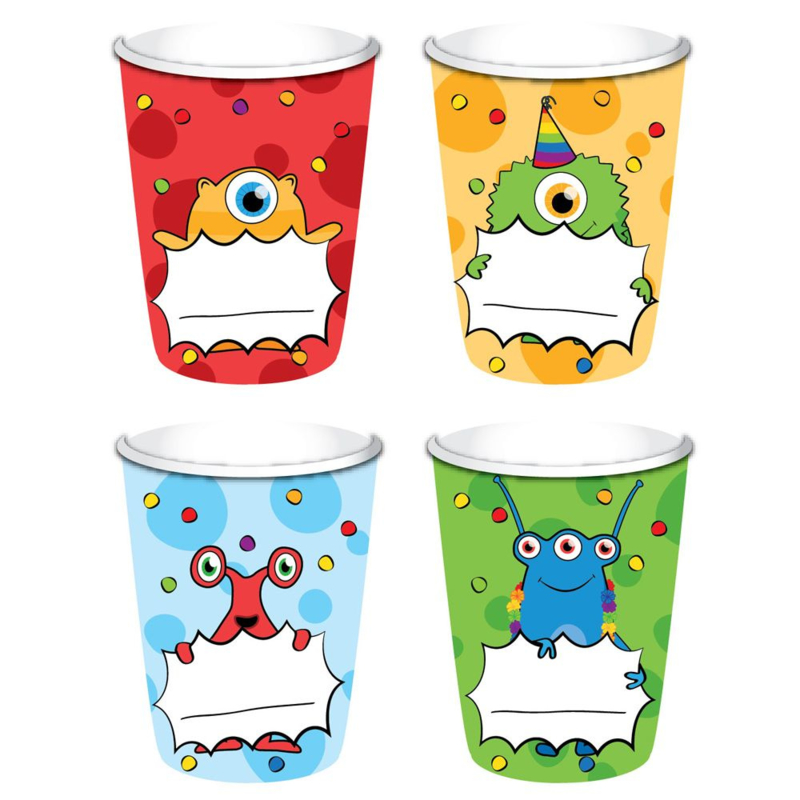 Funny Monsters Bekers - 8 st