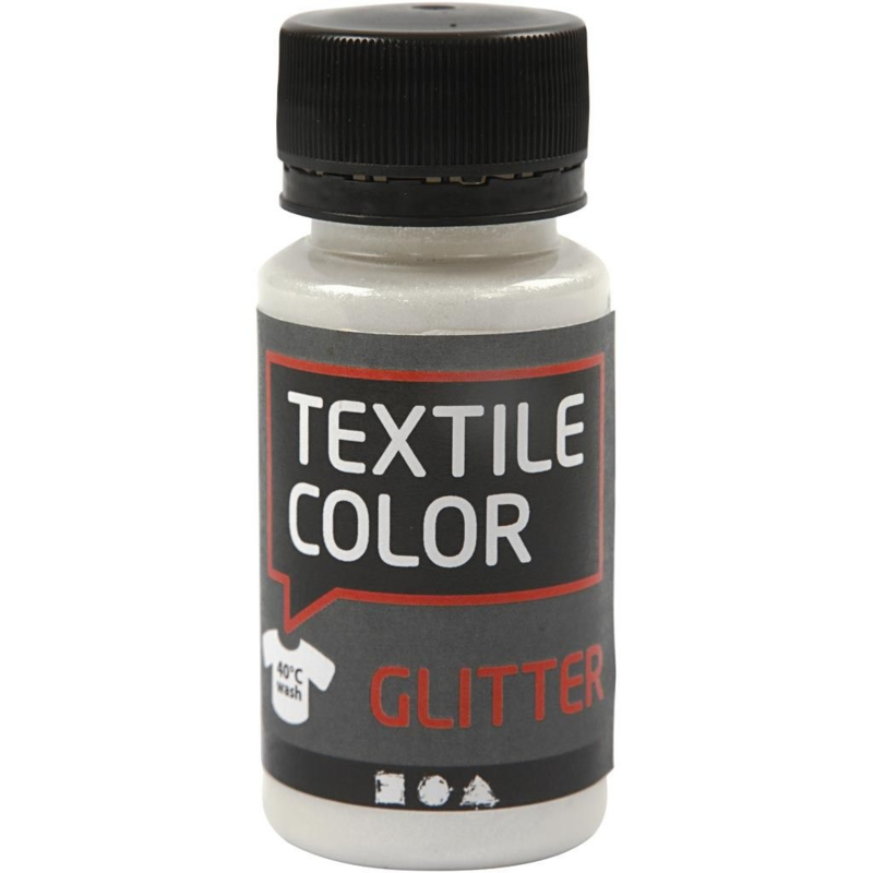 Textile Color Transparant met Glitter - 50 ml