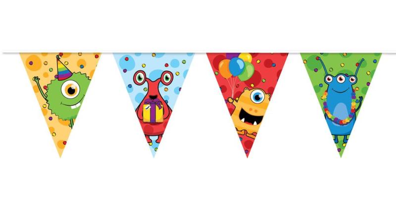 Funny Monsters Party - Vlaggenlijn