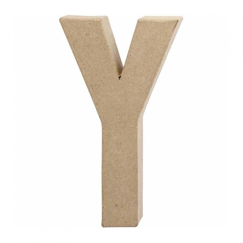 Papier-mache Letter Y - 20 cm
