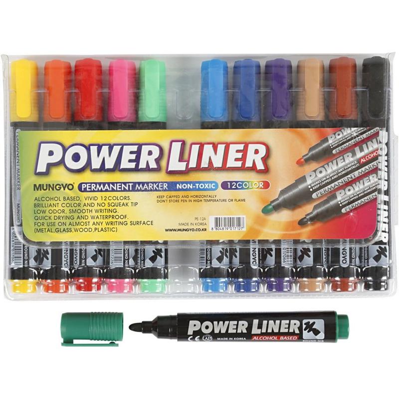 Power Liner - 12 permanente Stiften
