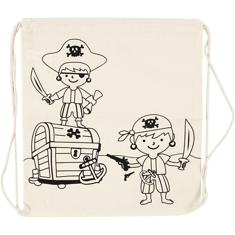 Rugzak met afbeeldingen van Piraten - 37 x 41 cm