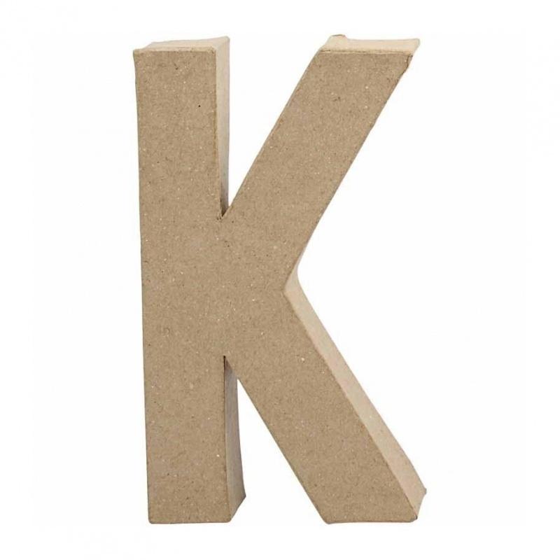 Papier-mache Letter K - 20 cm