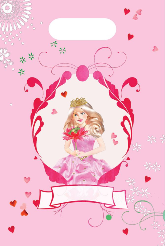 Uitdeelzakjes Prinsessenfeest - 8 st