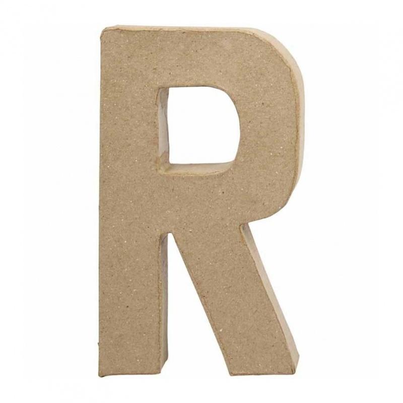 Papier-mache Letter R - 20 cm